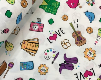 "Last Fat Quarter, Girl Scout Fabric in White from the Girl Scouts Collection by Riley Blake, 18""x22"""