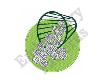 Perfect Golf Swing - Machine Embroidery Design - 4 X 4 Hoop, Golf ball, Equipment, Gear, Sport, Golf Ball Bucket,