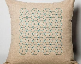 "Geometric pillow ""Cubic""."