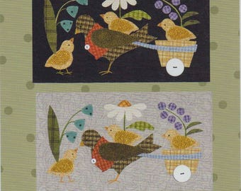 Bertie's Spring (part 2) Hitching a Ride #1422 Pattern by All Through the Night Folk Art Designs by Bonnie Sullivan