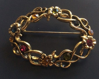 Gorgeous Crystal Brooch Pin