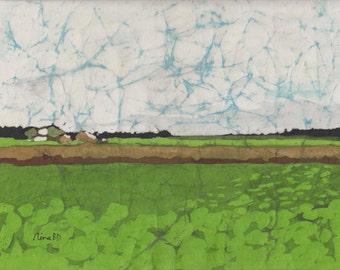 Fields, Farmhouse and Big Sky