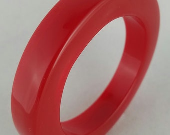 Tansparent Red Plastic Bangle, Vintage