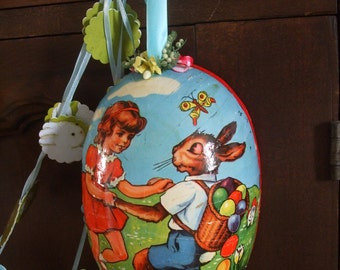 Easter Egg Shadow Box Vintage Erzegebirge
