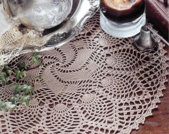 Pineapple & Pinwheel - Crochet Doily Pattern