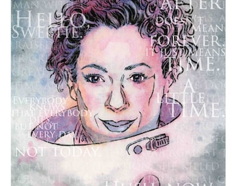"""CLEARANCE 8 x 10"""" Print of Alex Kingston as River Song"""