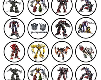 Transformers Edible Wafer Rice Paper Cake Cupcake Toppers x 24 PRECUT