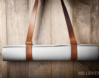 Leather Yoga Strap, Yoga Mat Strap, Yoga Pad Strap  070