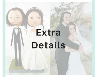 Extra Details for Wedding Couple Portrait Dolls