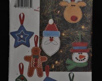 Cute Felt Ornaments - UNCUT - Butterick 4661 - No Sewing - Painted