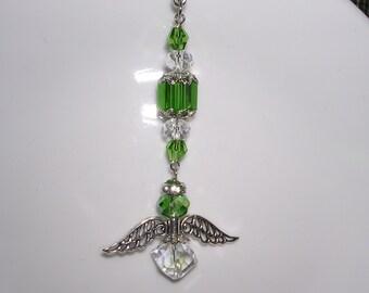 Emerald Angel Rear View Mirror Charm