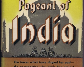 pageant of india forties history antique vintage book asia decorative cover design typography art