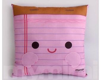 "12 x 12"" Office Pillow, Desk Decor, Office Accessories, Note Pad, Decorative Pillow, Back To School, College, Dorm Decor"