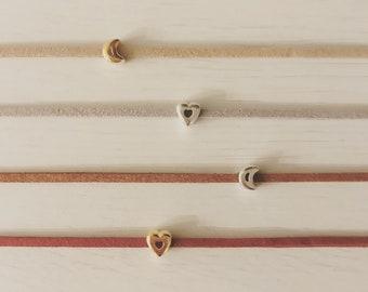 tiny charm leather bracelets