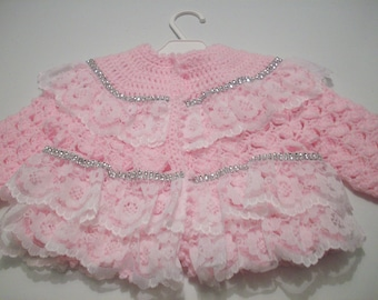 crochet baby matinee coat