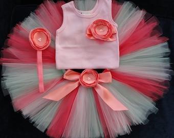 Pink Tutu Dress Outfit   Baby Girls Birthday Dress