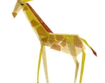 Emma Giraffe -  Giraffe Art Print, Giraffe Art, Animal Art Print