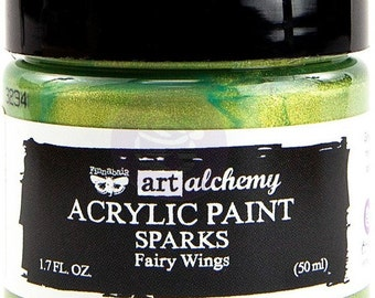 Finnabair Art Alchemy SPARKS Prima Acrylic Paint 1.7 oz  FAIRY WINGS #964078