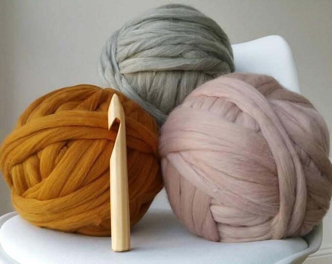 Featured listing image: Giant crochet hook size 50 25mm diameter for chunky crochet arm knitting chunky knitting needles