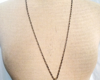 30 Inch Chain Necklace with Vintage Coin Pendant