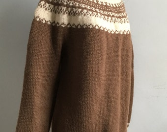 Vintage Wool Handknit Sweater