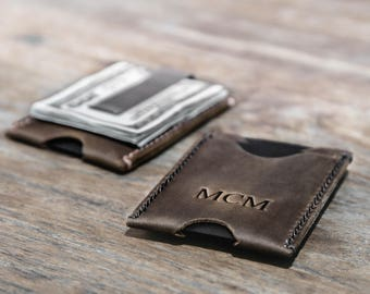 Minimalist Money Clip Wallet Uniquely Crafted and Personalized by JooJoobs #078