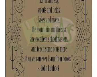 """Lubbock Quote Printable ~ """"Earth and Sky"""" Instant Digital Download"""