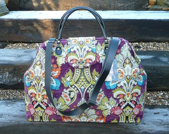 Custom order, Weekender Bag, Bespoke Bag, Carpet Bag, Chenille Bag, Mary Poppins Bag, Overnight bags, Bgas and Purses, Luggage and Travel