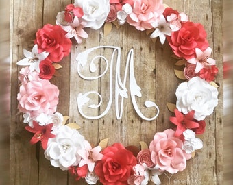 Paper Flowers Wreath