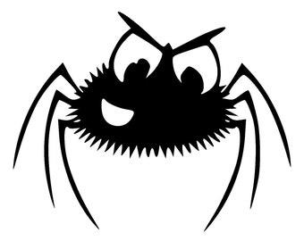 DIY Angry Spider Vinyl Decal, Laptop Decal, iPad Vinyl Decal, Tablet Decal, Cell Phone Vinyl Decal, Car WIndow Vinyl Decal, Drinkware Decal