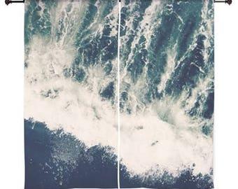 "Sheer Curtains 60x60 60x84"" - Home Decor, Beach, Ocean, Waves, Sea, Surf, nature photography by RDelean Designs"