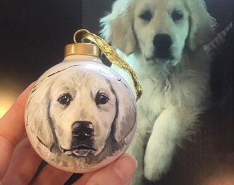 Ornament, Custom Portrait, hand painted from your photographs. Christmas, Gift
