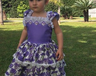 Girls Lavender Dress, Girls Purple Dress, Girls Plum Dress, Toddler Lavender Dress, Girls Lilas Dress, Lilac Flower Dress, Pupolino.