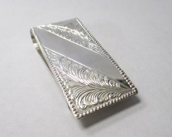 Sterling Silver Detailed Money Clip