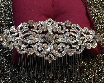 The ROSHÉ Comb, Swarovski Crystals, Wedding hair comb, Crystal Comb, Vintage Comb, Wedding hair accessories, rhinestones, prom