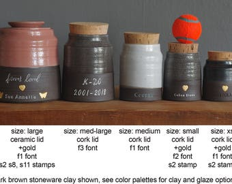 Info: Size chart for collared shaped urns. Urn needs to be purchased also.