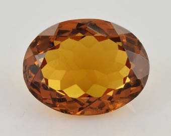 5.57 ct Natural Honey Beer Quartz 13.3x10.2x6.7 mm Faceted Cut Oval 1 PC Loose Gemstone , 100% Natural Honey Quartz Gemstone - BQGLDBWN-1034