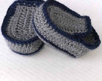 Baby Loafers - baby shoes - baby boy shoes - crochet shoes - baby crochet Loafers