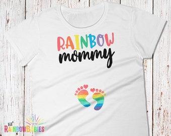 Mommy Pregnancy Shirt, Rainbow Maternity Shirt, Mommy Maternity T-Shirt, Pregnancy Tee, Maternity Gift Idea, Rainbow Baby Shower Gift
