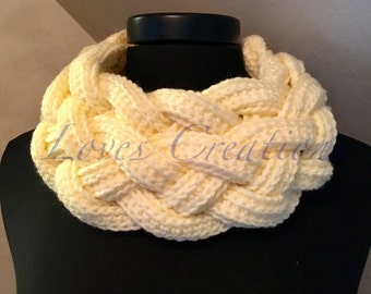 Crochet Double Braided Cowl/Scarf