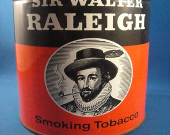 Tobacco Tin Sir Walter Raleigh