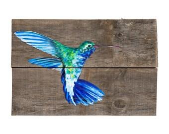 Blue Hummingbird Print