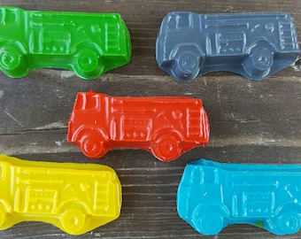 Fire truck crayons set of 20 - Fire Truck Party Favors - Fire Truck Party - Fireman Crayons - Fireman Party Favors - Kids Party Favors