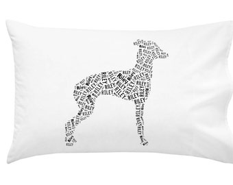 Personalized Italian Greyhound Pillowcase Pillow Cover Dog Breed Home Decor Bed Cushion