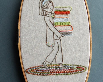 Embroidery Patterns, BOOKSMART Hand Embroidery Patterns, Back to School Teacher Appreciation DIY Dorm Decor, Embroidery Designs