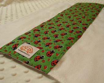 Green Lady Bug Burp Cloth