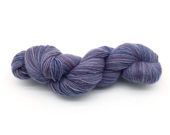 Hand Dyed Yarn - 100g / 3.5oz - Sport Weight (5ply) - 100% Peruvian Highland Wool -  Blue Purple Violet Variegated Color Australia