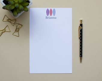 Personalized Surfboard Notepad