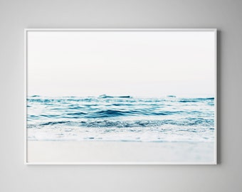Waves Poster, Wave Print, Beach Art, Coastal Poster, Ocean Photography, Landscape Prints, Seascapes, Ocean Print, Coastal, Beach Poster