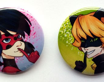 Miraculous Tales of Ladybag and Chat Noir magnet set